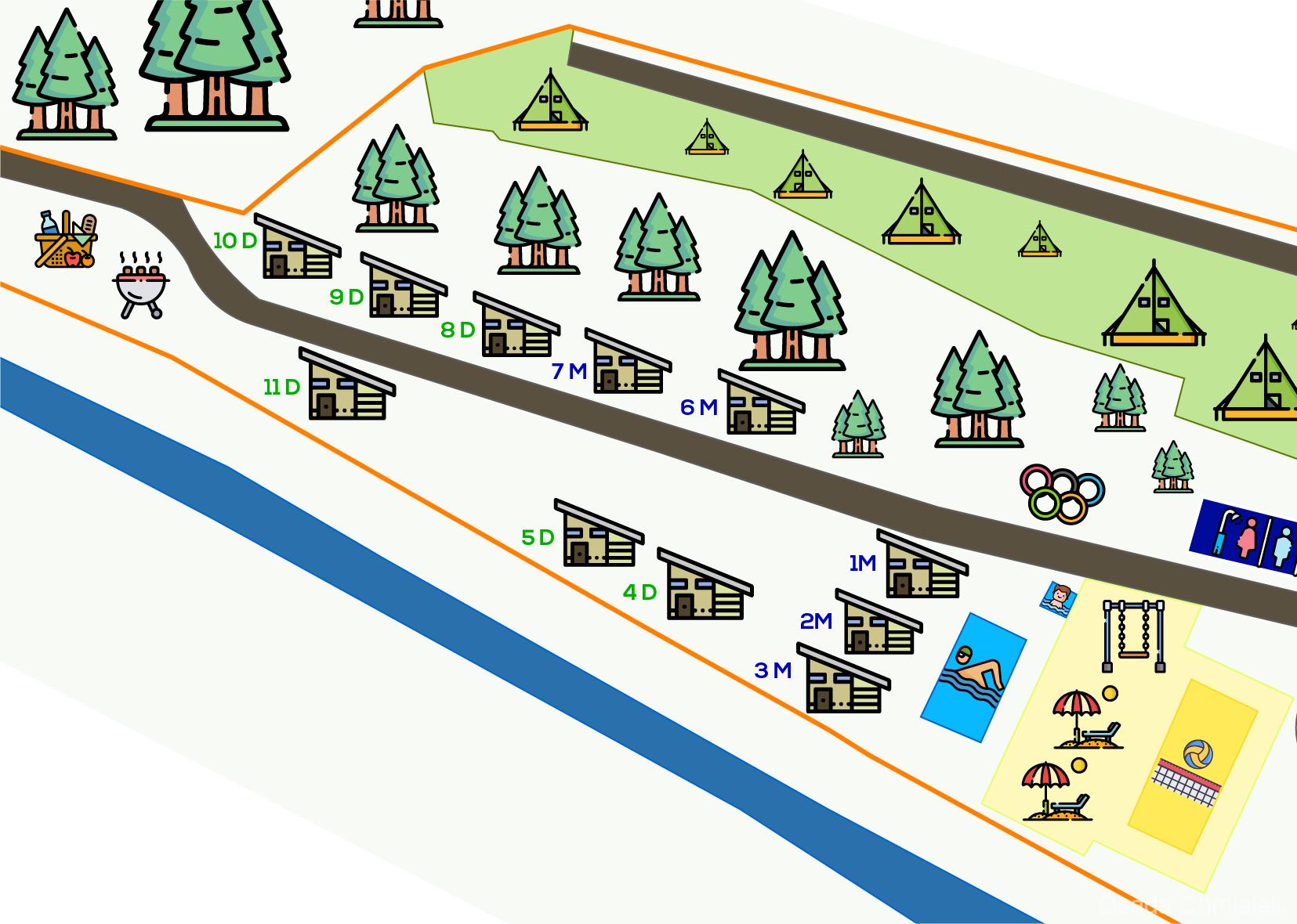 Domki-mapa